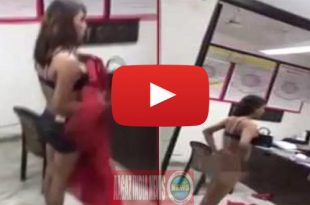 drunk girl gone nude, nude girl in office, a nude lady, nude lady slapped police, uttar pradesh police, new delhi, www.aagazindia.com, aagaz india news